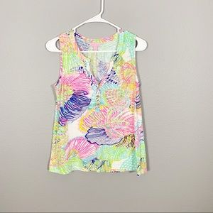 Lilly Pulitzer Patterned Tank Top